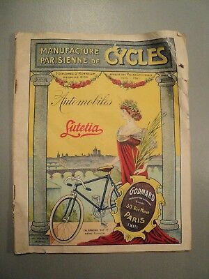 Catalogue Manufacture Parisienne Cycles 1914 Vélo Bicycle Bicyclette Accessoire