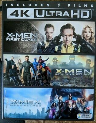 X-men 3 Film Collection 4K Ultra HD Blu-Ray And Digital Copies with Box