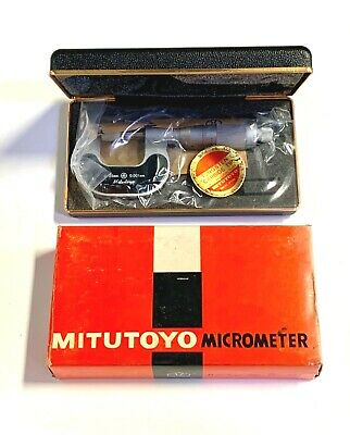 Mitutoyo 0-25mm Outside Micrometer 106-101 Made In Japan