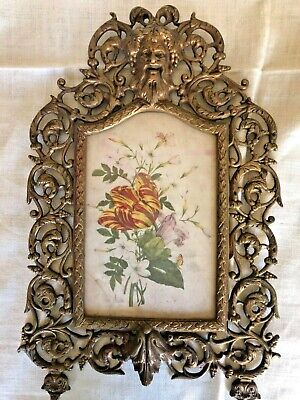 Antique Art Deco Brass wall  Picture Frames, 5 x 8