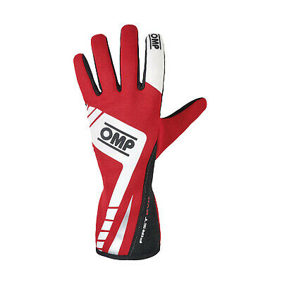 OMP FIRST EVO MY16 Racing Gloves Red (homologation FIA) s. XL