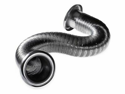 50mm Silver Cold Air Intake Feed Flexible Duct Pipe Induction Kit Filter