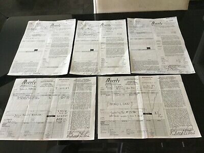 BROCK PETERS Actor & Civil Rights Activist 5 Hand Signed In Ink Documents Lot