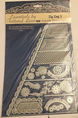 Tattered Lace Cutting Dies SMALL ZIG ZAG BORDER D817  Stephanie  REDUCED die cutting stencils Scrapbooking Embossing Stencils & Folders