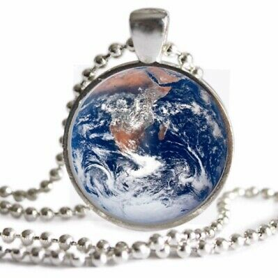 Earth World Globe Charms WHITE PEARL .925 STERLING SILVER Leverback Earrings