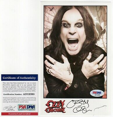 OZZY OSBOURNE Signed Publicity Photo PSA/DNA Certified Authentic Autograph Auto