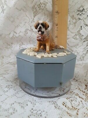 Saint Bernard Rotating Music Box How Much is That Doggie in The Window