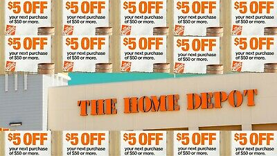 HOME DEPOT $5 OFF 50Coupons-InStore Online-EPIC Delivery Promo