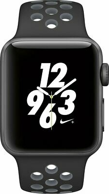 Apple Watch Nike+ Series 2 Space Gray/ Black 38mm Case OLED Sport Band