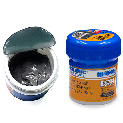 20/35g Tin-Lead Solder Flux Paste Melting Point 250℃ BGA IC Chip Reball Repair