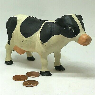 Vintage Cast Iron Holstein Cow Bank Waiting to be Fed Coins. Great Collectible!