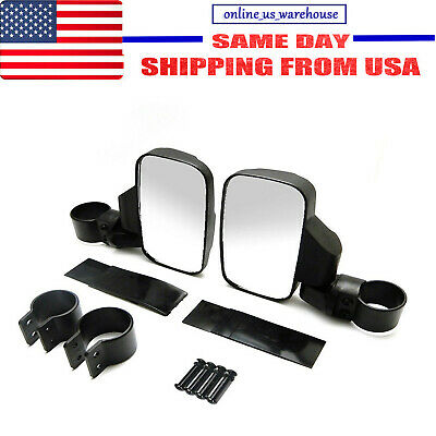 2Pcs Universal Car Rearview UTV Side View Mirror Set Adjustable Roll Bar Cage LM