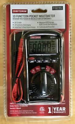 NEW Craftsman Mini Pocket Multimeter with Auto Ranging   82351