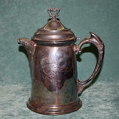 Antique Large Silverplate New Amsterdam Hot Water Pot, 11.75""