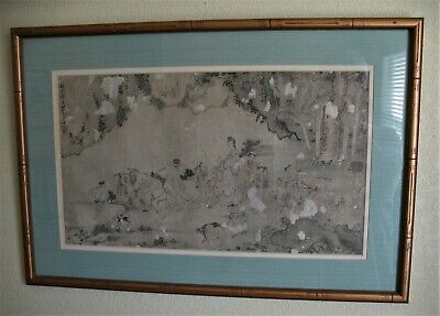 ANTIQUE JAPANESE OR Chinese Scroll Painting Ducks Geese