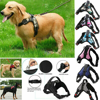 Pet Dog Vest Harness Leash Collar Set No Pull Adjustable Small/Midlle/Large/XL