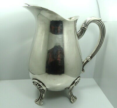 Beautiful Vintage PRATA WOLFF Silverplate Ice Water Pot Jug Bowl 1.8 Ltr Pitcher