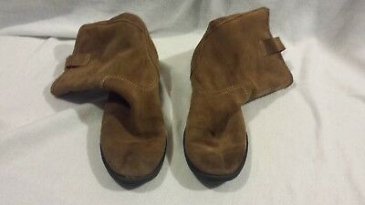 Womens Chocolate Brown Mid Calf Genuine Leather 5 1/2 M Cowgirl Style Boots