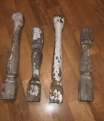 Vintage Antique Spindles Baluster Porch Architecture  Shabby Chic- 4 Total