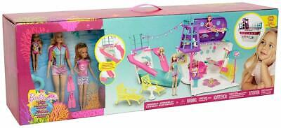 Barbie Cruise Ship Playset with 3 Dolls and 28 Accessories Playset  I Brand New