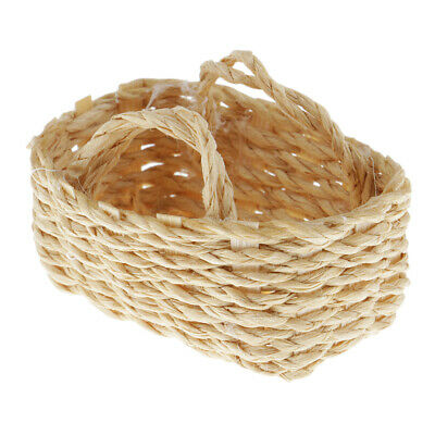 1/12 Mini Basket Exquisite Dollhouse Woven Bamboo Baskets Dolls House Crafts