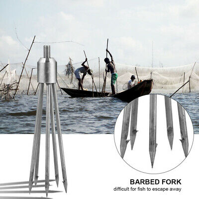 Stainless steel fishing 5 paws fish spear fork fish barb sharp fishing tools