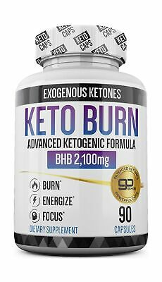 Keto Pills - 3X Dose (2100mg | 90 Capsules) Advanced Keto Burn Diet Pills - B...