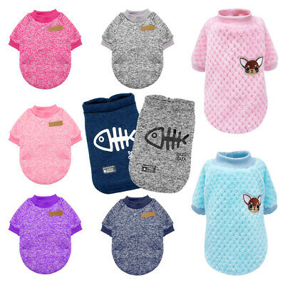 Small Dog Sweater Knitwear Knit Clothes Pet Puppy Cat Jumper Vest for Yorkie Pug
