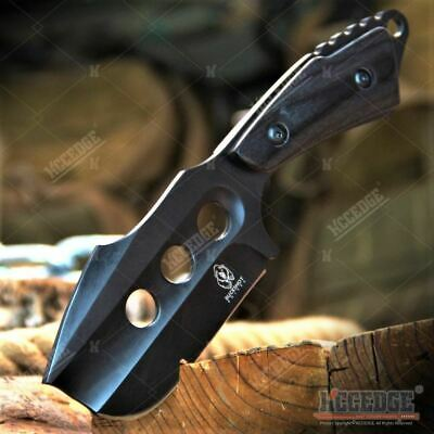 """Outdoor Hunting Camping 7"""" Full Tang Cleaver Tactical Fixed Blade w/ Wooden Hand"""