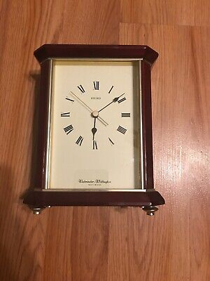 Seiko Westminister Westminster Oak Mantle Clock w/Westminster Chime Japan