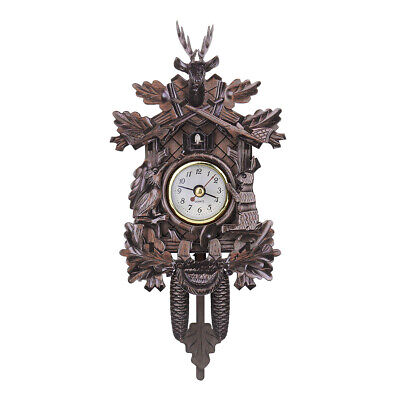 301 Deer Black Forest Decoration Home Cafe Art Swing Vintage Cuckoo Wall Clock