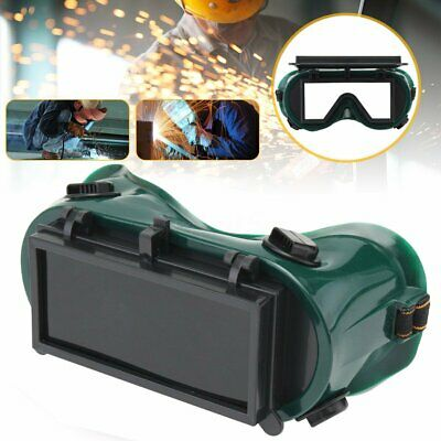 Flip up 2Lense Auto Solar Darkening Brazing Welding Goggles Glasses Mask Helmet