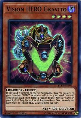 3x Vision HERO Gravito - BLHR-EN009 - Ultra Rare - 1st Edition Battles of Legend