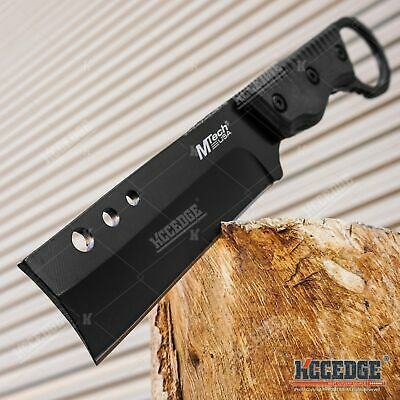 "8"" Shaver Style Fixed Blade Cleaver Knife Outdoor Camping Hunting Survival Knife"