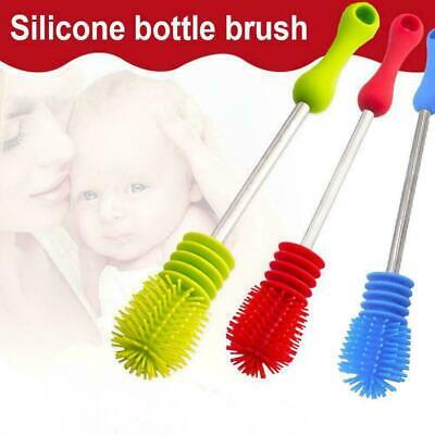 Silicone Cup Brush Scrubbing Home Baby Feeding-bottle Brush Long Soft
