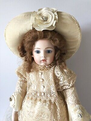 Rare Vintage Reproduction of Bru Jne Doll by Artist Louis Nichole