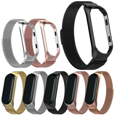 For Xiaomi MI Band 4 Strap Milanese Loop Stainless Steel Wrist Band Luxury
