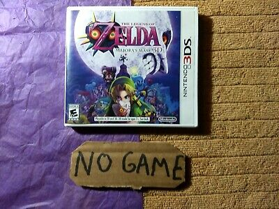 The Legend of Zelda: Majora's Mask 3D (Nintendo 3DS, 2015) Just case, No game.
