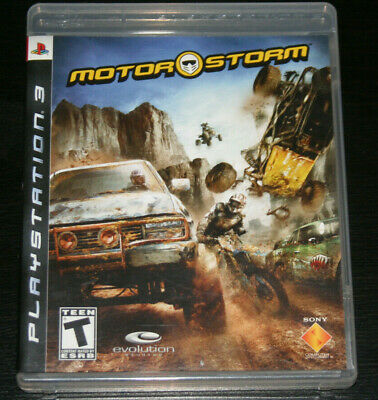 MotorStorm (Sony PlayStation 3, 2007) PS3 Racing Game Complete FREE SHIPPING!