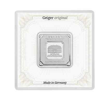 Geiger Edelmetalle 1oz .999 Silver Minted Bullion Bar in Security Capsule