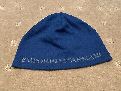 Emporio Armani Mens Beanie Size Large Great Condition