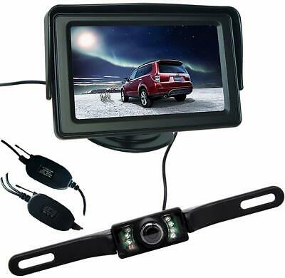 "2 x 18 IR LED Reversing Camera+7"" LCD Monitor Car Rear View Kit Bus Truck Car"