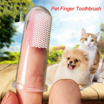 10 Pieces Soft Silicone Pet Finger Toothbrush, Tooth Cleaner Dog Cat Teeth