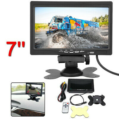 Car Rear View Camera DVD VCR Monitor 7'' inch TFT LCD Color Screen 2 Video Input