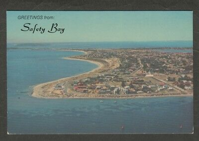 e2738)   AERIAL VIEW POSTCARD OF  SHOAL WATER BAY, SAFETY BAY WESTERN AUSTRALIA