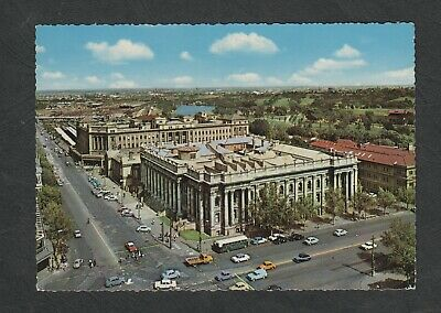 s840) 1970's PC PARLIAMENT HOUSE & CENTRAL STATION ADELAIDE IN SOUTH AUSTRALIA