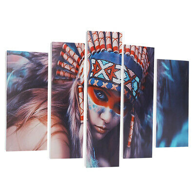 5pcs Set indiano donna tela stampa arte pittura parete foto Modern Home Decor