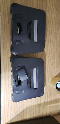 2 x Nintendo 64 Launch Edition Charcoal Grey Console (NTSC) for parts. AS IS