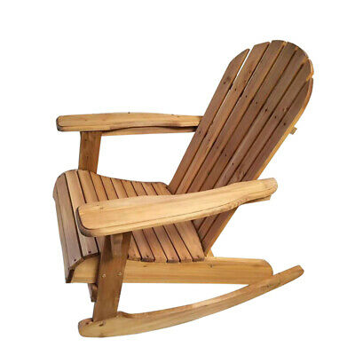 Fantastic Wooden Patio Rocking Chair Armchair Relaxer Garden Furniture Creativecarmelina Interior Chair Design Creativecarmelinacom