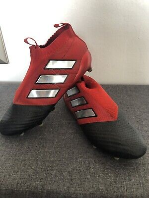 sneakers for cheap e37c2 afacb ADIDAS ACE 17+ Purecontrol Fg Mens Football Boots Red/Black Laceless – Size  Uk10